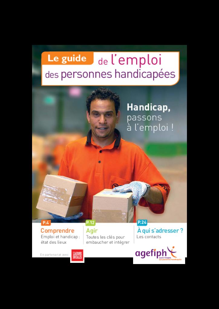Guide de l'emploi des personnes handicapées AGEFIPH