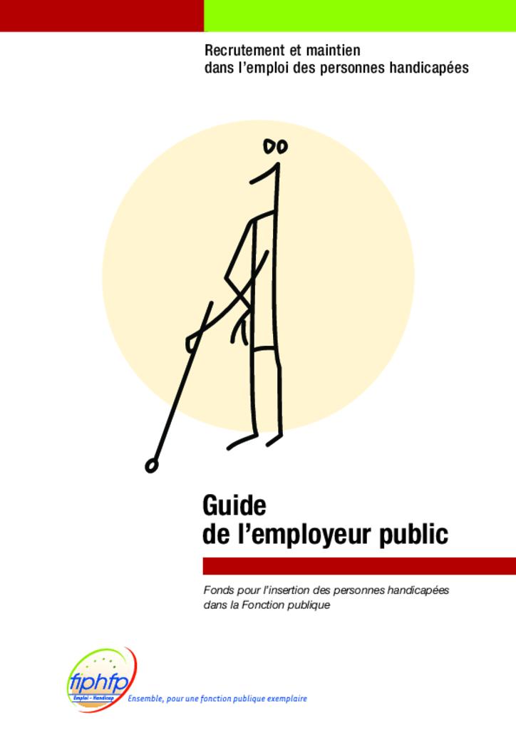 Guide employeur public 2009. FIPHFP