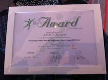L'Aract Aquitaine a reçu l'Awards d'excellence pour la réalisation de ses travaux en décembre 2013